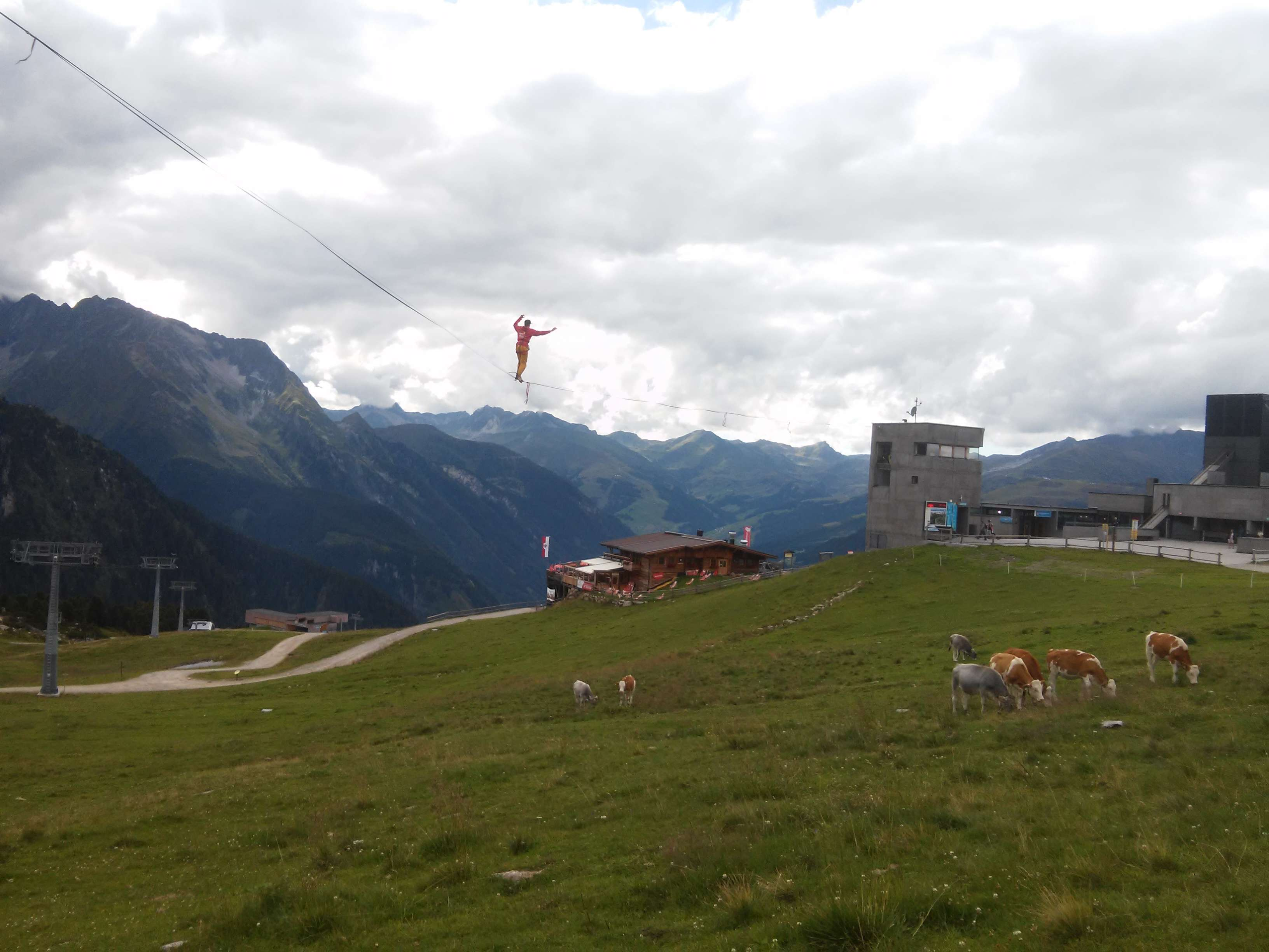 Quirin Herterich auf der Midline beim Festival der Kinder in Mayrhofen / Zillertal, 2017