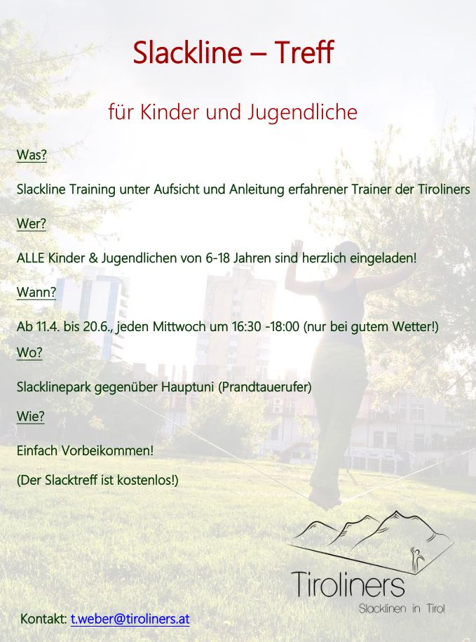 Flyer zum Kinder- und Jugendslack