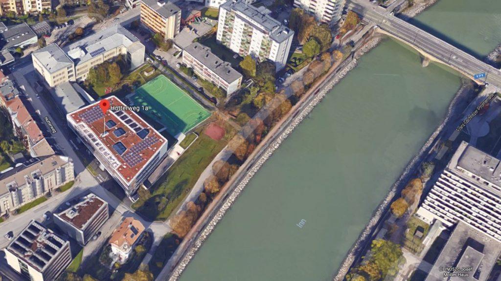 Google Maps-Bild zur Visualisierung der Position des Slackline Parks in dem der Vereinsslack stattfindet