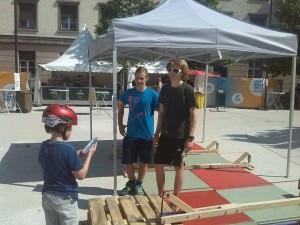 Slackline Stand - Freestyle Tage am Landhausplatz